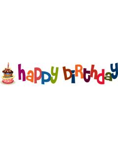 Happy Birthday - Rainbow