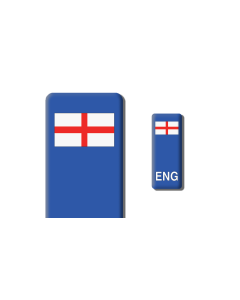 3D Gel Badge - ENG Flag - Self adhesive