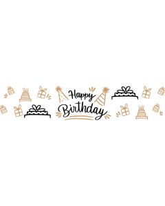Happy Birthday - White