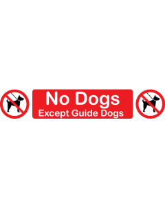 No Dogs (Except Guide Dogs)