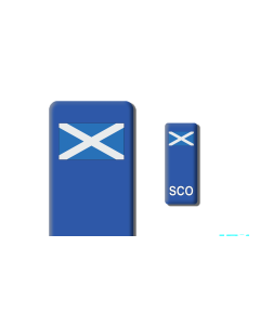 3D Gel Badge - SCO Flag - Self adhesive