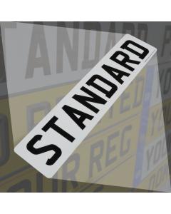 Standard Number Plate
