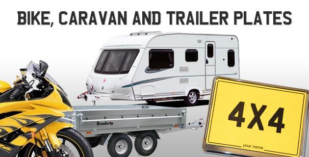 Caravan number plate