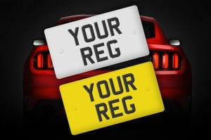Custom Mustang Car Reg