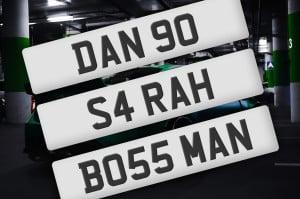 Custom registration plates