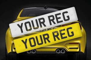 Your Reg on Yellow Car