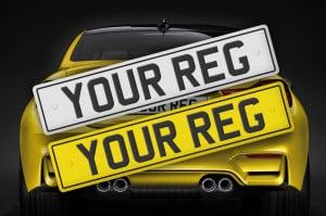 Reg on Yellow car