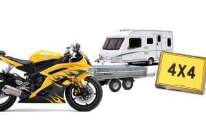 Number 1 Plates | Bike Number Plates + Caravan and Trailer.
