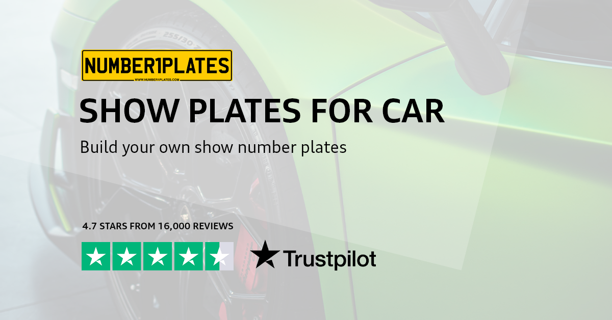 Show Plates For Cars