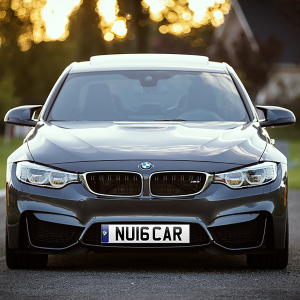 BMW Car with a new 2016 number plate