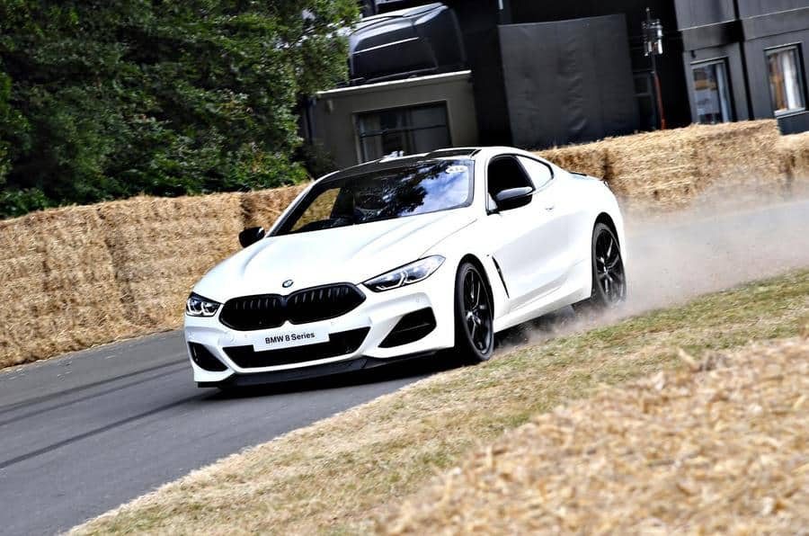 JULY 12: BMW 8 Series Coupe during the Goodwood Festival of Speed on July 12, 2018. (Photo by Jeff Bloxham / LAT Images)