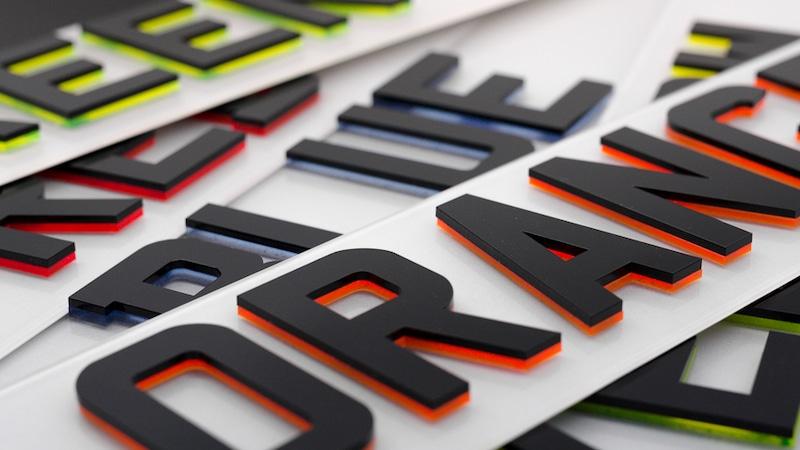 4D Number Plates | 4D Neon Plates