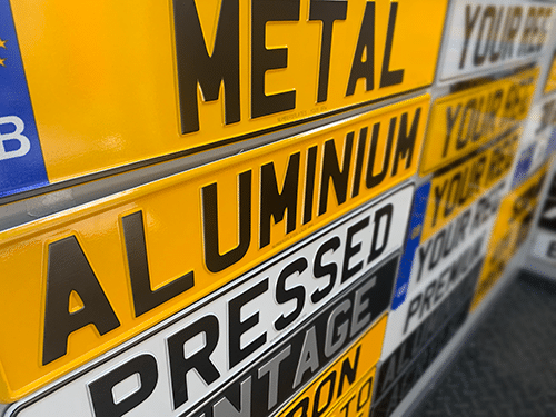 Trailer Number Plate Types