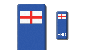 England Number Plate Stickers