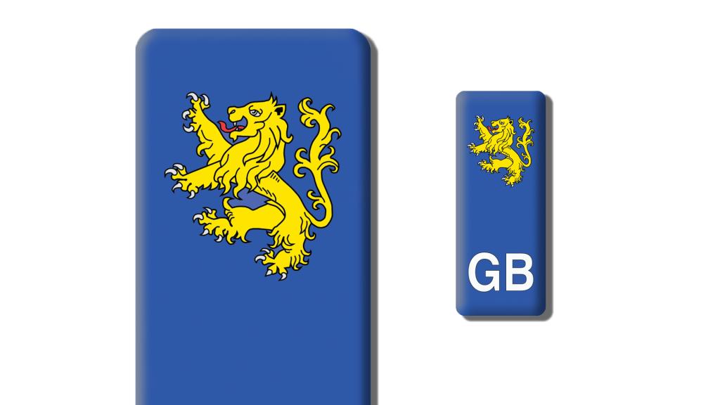 Rampant Lion Number Plate Sticker