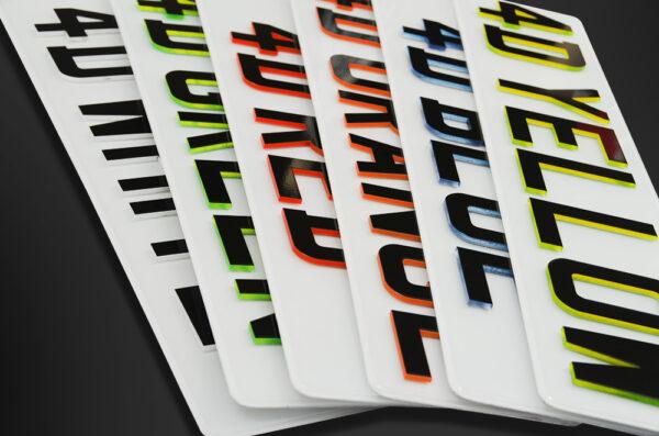 Premium Registration Plates In a pile