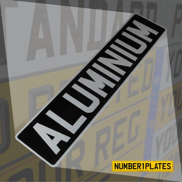 Vintage Aluminium Registration Plates