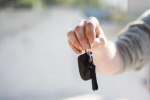 Handing over the keys.