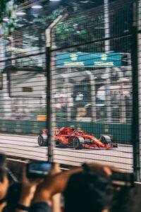 grand prix red sports car
