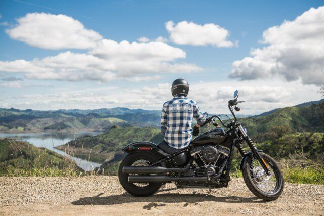 Man on Harley Davidson