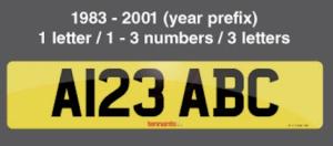 Prefix Number Plate