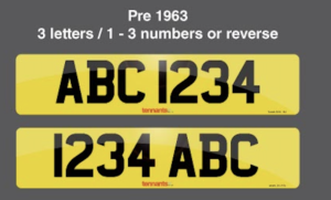 Pre 1963 plate style