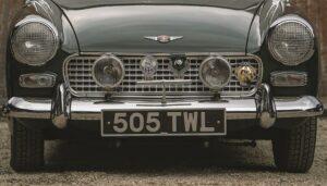 Vintage Plates On Mini Car