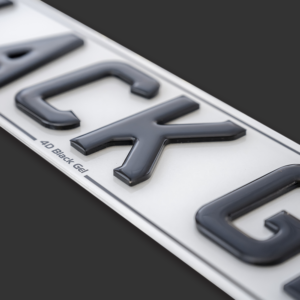 3D Gel Style Number Plates